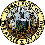 Idaho seal - colored by computer
